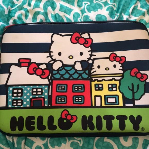 "New Hello Kitty 14/"" Zippered Laptop Sleeve"